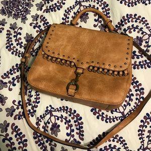 Tan leather purse
